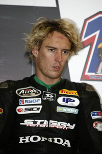West was fastest in Supersport testing