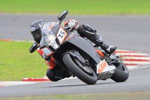 Johnson on the KTM RC8R production bike at Eastern Creek