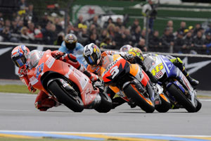 Stoner and Rossi will be favourites Mugello this weekend
