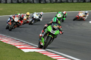 Parkes and Muggeridge in BSB action at Brands Hatch
