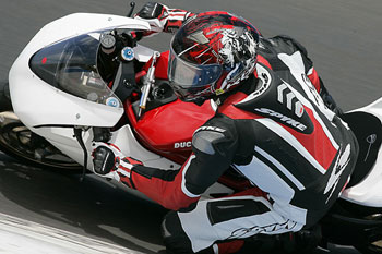 Jamie Stauffer was quickest on debut with Ducati at last week's Phillip Island ASBK test.