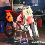 This tidy CR500 was a popular talking point in the pits.