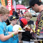 The stars of the sport were mobbed by kids on hand at Coolum - many of the riders giving away most of their gear come Sunday evening.