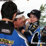 A young CDR Yamaha fan gets to meet the three-time champ.