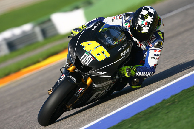 You won't find Rossi testing any all-new 2011 model Yamahas at Brno on Monday in the post-race test.