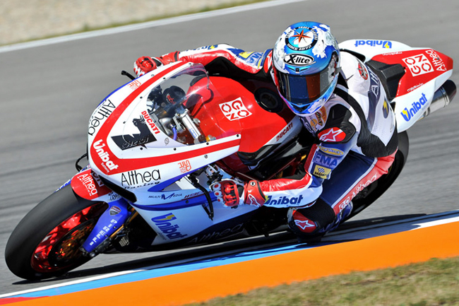 Althea Ducati and Carlos Checa will likely lead Ducati's charge in WSBK 2011.