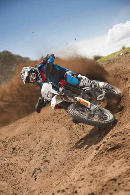 Everybody loves a quick blast on a two-stroke! It's a case of power on demand when it comes to the 2011 model WRs.