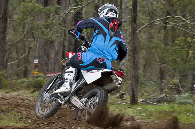 Traction can be difficult to find, but the two-stroke Huskys are super agile in the bush.