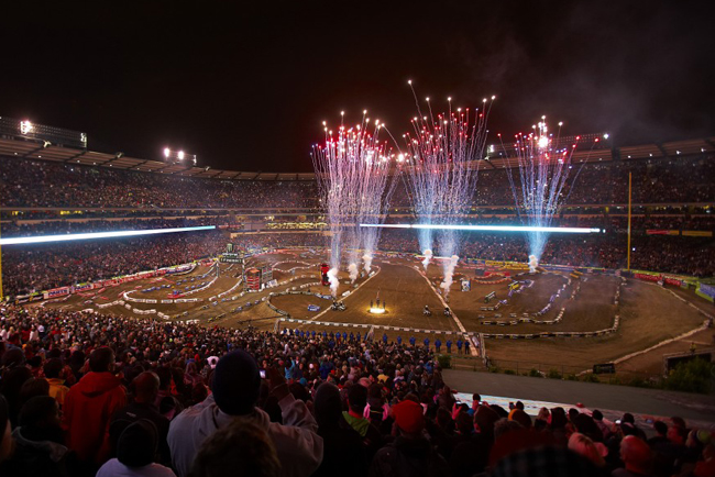 Anaheim's Angel Stadium kicked off the start of the 2011 AMA Supercross Championship last weekend. Image: Hoppenworld.com.