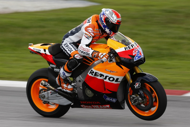 Casey Stoner's 2011 Repsol Honda colours were unveiled in Malaysia this week, retaining his signature Aussie-theme numbers.