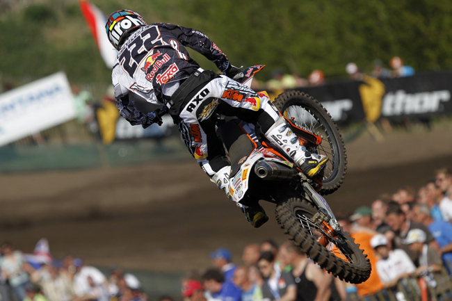 World champion Antonio Cairoli was back to his winning ways in the Dutch sand last weekend. Image: Ray Archer.