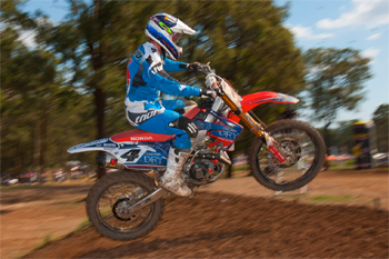 Cheyne Boyd has been mixing up his training on a CRF250 as of late.