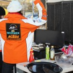 JDR Motorex KTM cooks up a storm for the team's breakfast