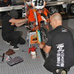 Sando and Apro put the finishing touches on Louis Calvin's factory KTM