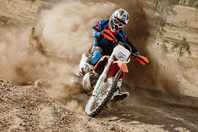 The 250 EXC ranks as a perfect all-rounded, easy to ride with plenty of power on hand.