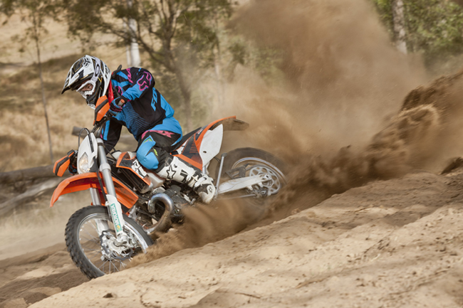 KTM's 2012 model two-stroke range is headed by the power-packed 300 EXC.