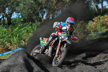 Jarrod Bewley won the E3 class of the AORC series aboard a KTM 300 EXC in 2011.
