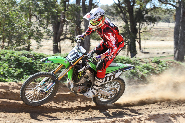 De Jager was impressed with the bike's power once clicking through the gears at speed. Image: Alex Gobert.