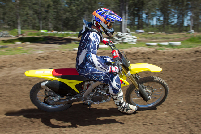 Streeter was a big fan of the RM-Z250's quick handling capabilities. Image: Rice Photography.