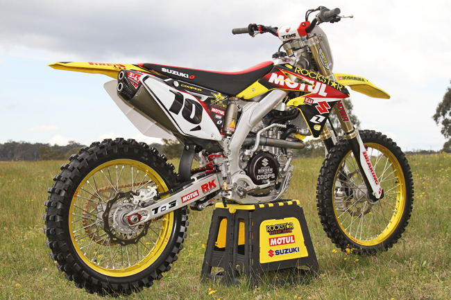 Even post-season, Suzuki's factory MX Nationals contender looks super sharp. Image: Alex Gobert.