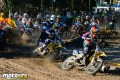 Dylan Wills pulls a solid holeshot on his two-stroke, the MXD rookie eventually finished 19th overall.