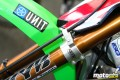Marmont's KX450F features kit KYB forks. The team was awaiting kit versions of the PSF air fork during SX