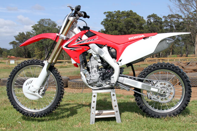 Honda's 2013 MX2 contender maintains the same body work from previous years. Image: Alex Gobert.
