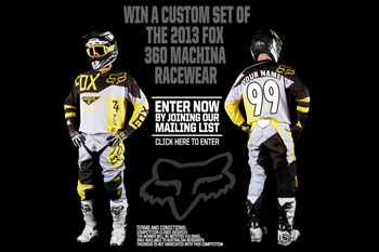 Fox giving away a custom set of 360 Machina Racewear