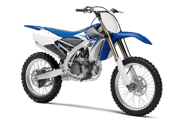 The 2014 YZ250F features an all-new look.