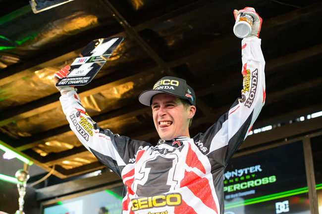 Wil Hahn will step up to a 450 in 2014 alongside Eli Tomac. Image: Simon Cudby.
