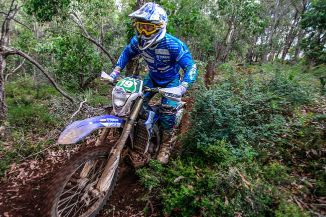 Josh Green rode the WR450F to fourth Outright and second in E2. Image: Four Oh Four.