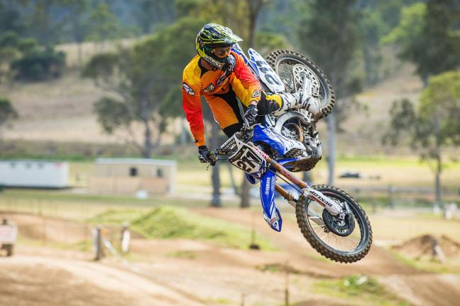 Reardon was quickly comfortable within reason on Mackenzie's bike. Image: Greg Smith/iKapture.