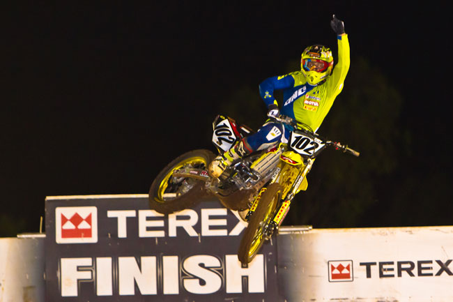 Matt Moss was flawless in his Australian Supercross Championship victory at Toowoomba. Image: Grant Reynolds/FiftySix Clix.