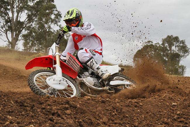Cody Mackie puts the 2014 Honda CRF250R through its paces for MotoOnline.com.au. Image: Alex Gobert.