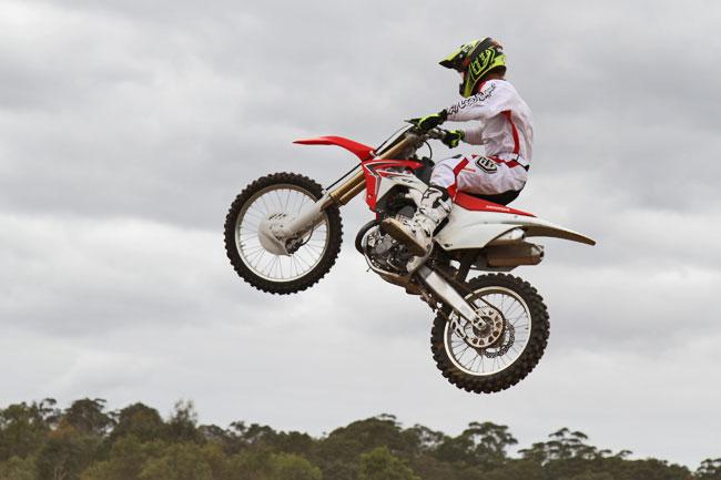 Cody Mackie flies high aboard the 'flickable' new 2014 model. Image: Alex Gobert.