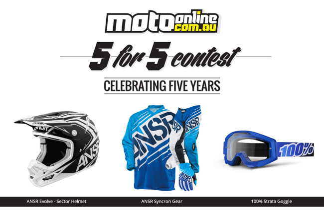 MotoOnline.com.au hosting 5 for 5 Contest Week 2 with Serco Yamaha