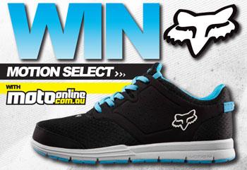 Win Fox Motion Select shoes with MotoOnline.com.au