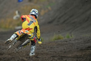 Matt Moss doing 'rain dance' for Appin MX Nationals