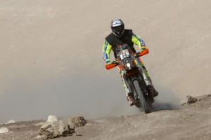 Price climbs Dakar order with second on stage six
