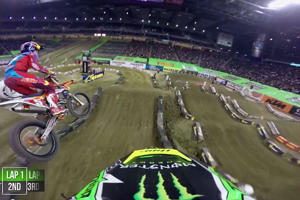 On Board: 2015 AMA Supercross Rd12 Detroit