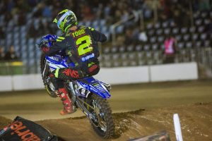 Supercross debut results in eighth for Serco Yamaha's Todd