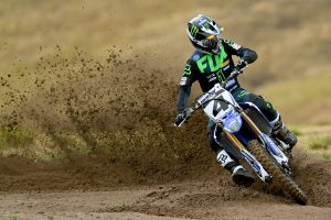 Clout signing official at CDR Yamaha Monster Energy