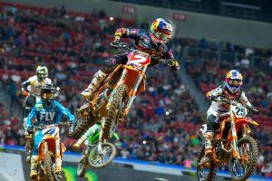 Webb extends supercross advantage in Atlanta KTM sweep